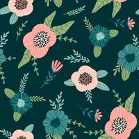 Motif floral abstrait sans soudure. vecteur