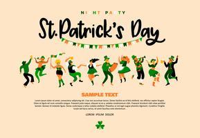 Le jour de la Saint-Patrick. Illustration vectorielle avec des gens drôles vecteur