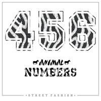 Numéros de mosaïque d'animaux pour t-shirts, affiches, cartes et autres usages.