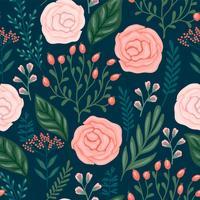 Floral pattern sans soudure. Conception de vecteur pour différentes surfaces.