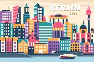 illustration vectorielle de la ville de berlin, concept design plat vecteur