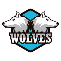 logo du loup vecteur