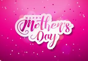 Carte de voeux bonne fête des mères vecteur
