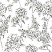 Jardin victorien. Floral pattern sans soudure. Illustration vectorielle