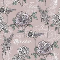 Floral pattern sans soudure. Textures dessinées à la main à la mode.