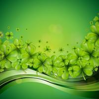 Design de fond de la Saint Patrick avec des trèfles verts