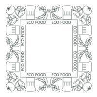 Concept d'aliments sains. Bordure de cadre