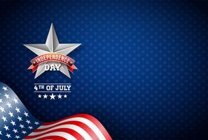 illustration vectorielle de fête de l'indépendance (usa)