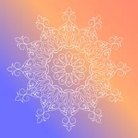 Eléments de décoration Vintage Mandala Fleurs vecteur