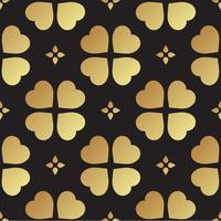Modèle sans couture or avec des feuilles de trèfle, symbole de la Saint-Patrick en Irlande vecteur