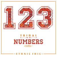 Chiffres ethniques tribaux pour t-shirts, affiches, cartes et autres usages. vecteur