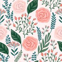 Floral pattern sans soudure. Conception de vecteur.