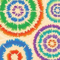 forme radiale abstraite de teinture de cravate colorée vecteur