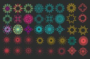 Mandala Modèle d'ornement rond.
