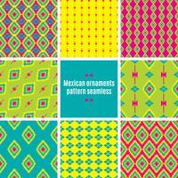 Modèle sans couture textile entrelacs folklorique mexicain vecteur