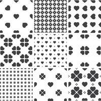 Ensemble de modèles universels sans soudure géométriques monochromes, carrelage.