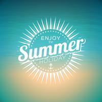 Illustration vectorielle sur un thème de vacances d'été