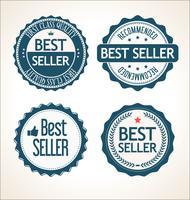 Collection de badges et étiquettes vintage rétro best-seller vecteur