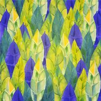 Fond de plumes, feuilles Tribal, boho