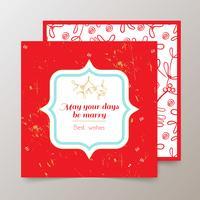 Carte Joyeux Noël vecteur