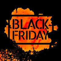 conception d'affiche vente vendredi noir vecteur