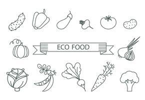 concept de saine alimentation. vecteur