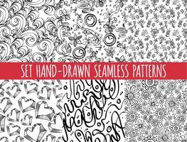 Ensemble de quatre motif abstrait abstraite sans soudure,