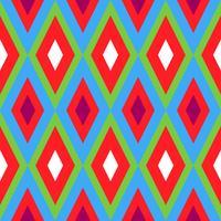 Losange géométrique sans soudure vecteur
