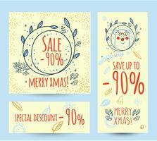 Bannière web modèle de vente de Noël