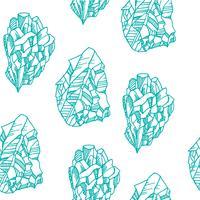 Modèle sans couture avec des cristaux vecteur