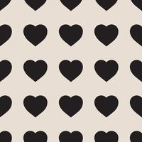 Modèle sans couture monochrome avec coeurs