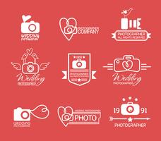 Insignes et étiquettes de photographie de style vintage