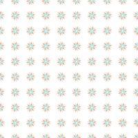 Motifs floraux sans soudure colorés vecteur