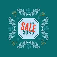 Bannière de vente de Noël lumineux
