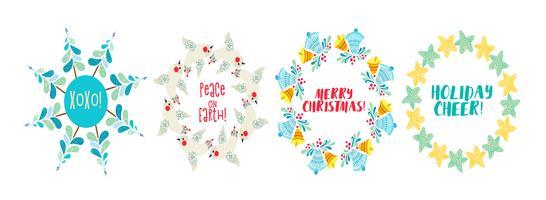 Guirlande de Noël Branches de pin, étoile décorée.