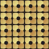 Mosaïque universelle transparente motif noir et or. vecteur