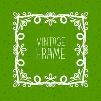 ligne mono cadre vintage vecteur