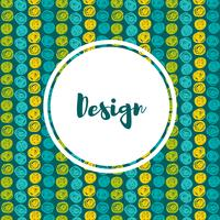 arrière-plans dans les bleus et les verts. Style dessiné à la main vecteur