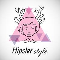 La conception du personnage hipster vecteur