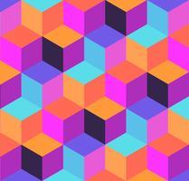 Motif géométrique de cubes et de losanges.