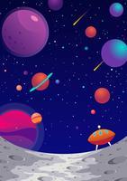 Fond de galaxie de la lune vecteur