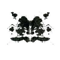 Rorschach inkblot test fond abstrait aléatoire