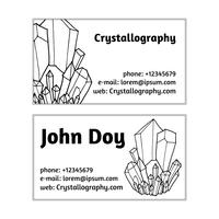 cartes de visite en cristallographie