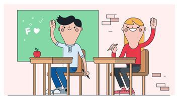 Vecteur de la salle de classe