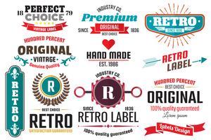 Étiquettes de vecteur rétro vintage pour bannière