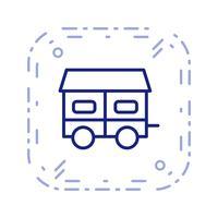 icône de vecteur de maison mobile
