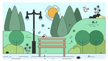 Vecteur de banc de parc