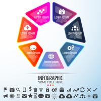 Modèle de conception d'infographie vecteur