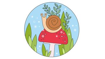 Vecteur d'escargot
