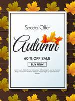 bannière de modèle de vente automne Vector background
